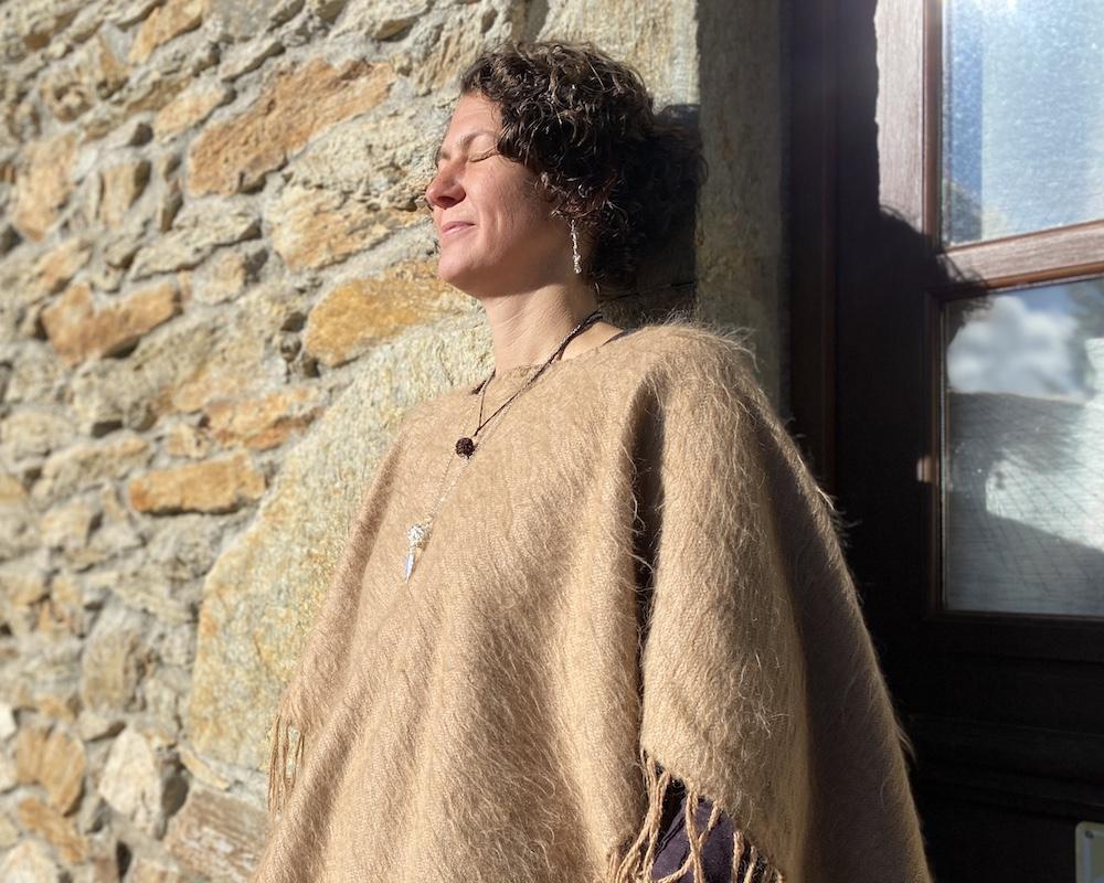 Melanie Müller Quine vor ihrer Mühle in Frankreich