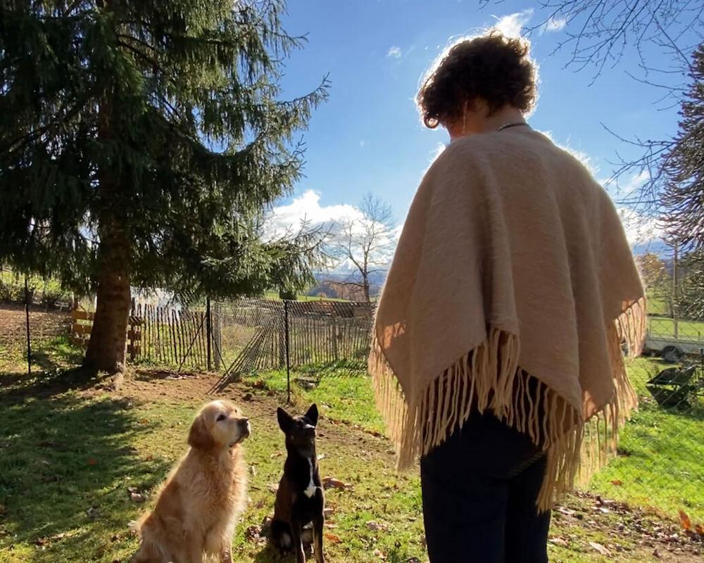 Melanie Müller Quine mit ihrem Spiegel Hund